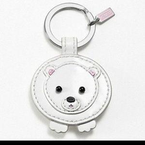 Coach Limited Edition Polar Bear Keychain